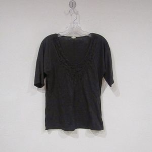 J. Crew Lace Necklace Tee
